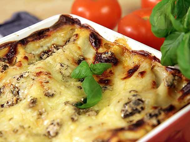 Lasagne med tre sorters ost