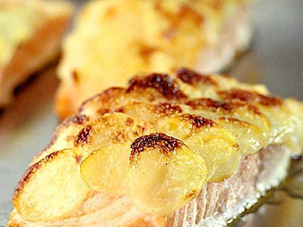 Lax med potatisfjäll