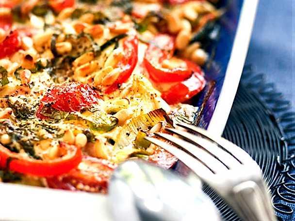 Lax- och grönsaksgratäng LCHF