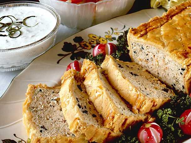 Lax- och murkelpaté med gurksås