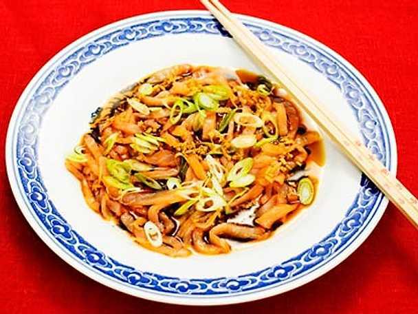 Laxcarpaccio med ingefära, soja och risvinäger