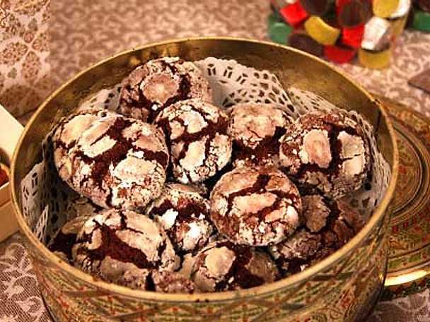 Leilas chocolate crackles (snöiga kakor)