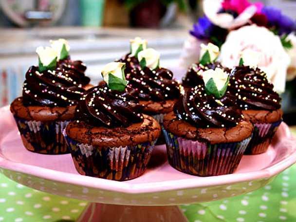 Leilas chokladcupcakes med lavendel