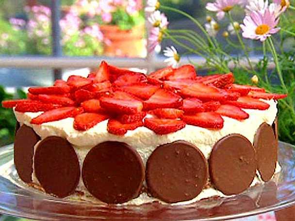 Leilas jordgubbstårta