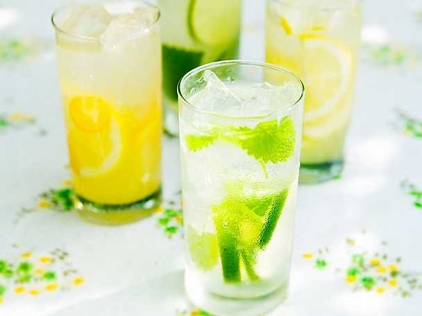 Lime- och myntadricka