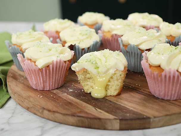 Limecupcakes med ingefärsfrosting