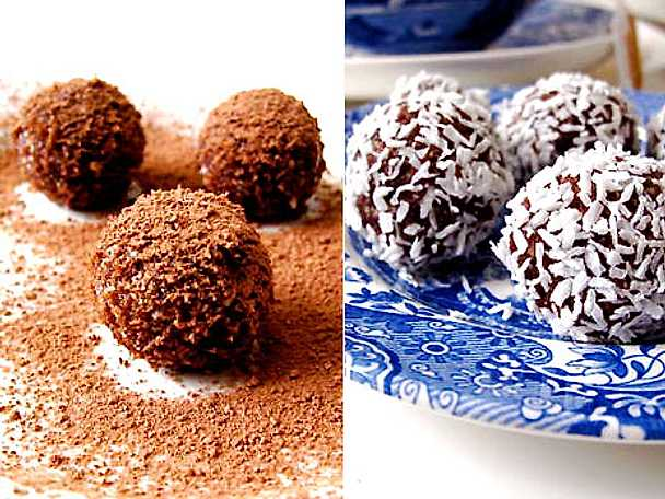 Liten kakas rawfood chokladbollar