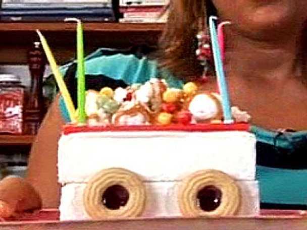 Lokomotiv glasstårta