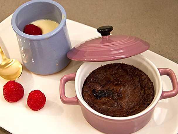 Louises chokladdessert med ingefärsglass