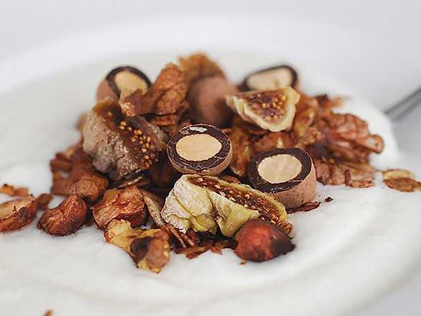 Lyxig choklad & fikonmüsli