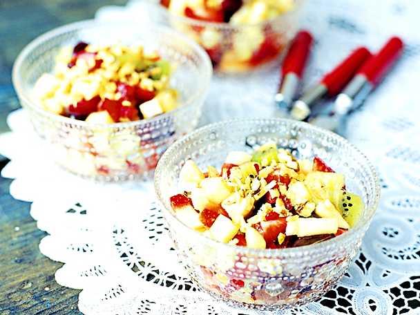 Macedonia di frutta, fruktdessert