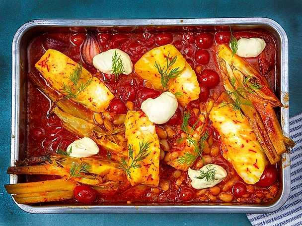 Maille Saffranstorsk med tomat och fänkål