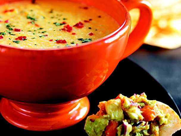 Majssoppa med sweet chili