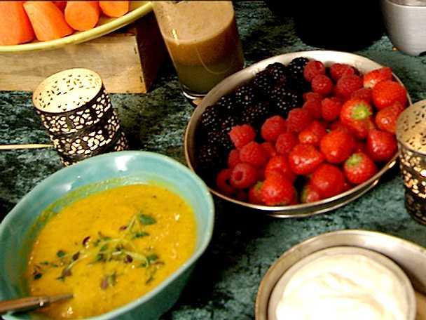 Mandel- och morotssoppa
