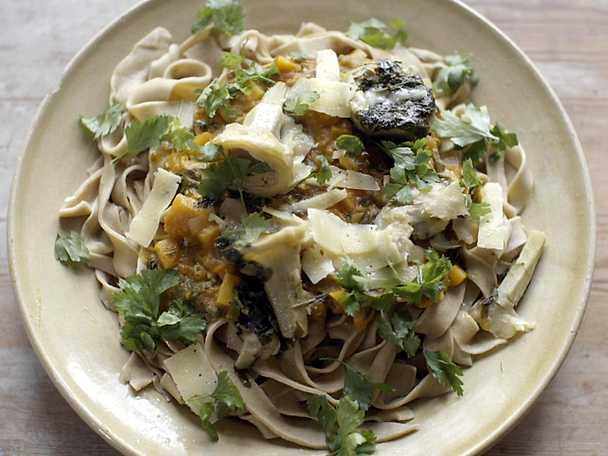 Mandelmanns pasta med kronärtskockor