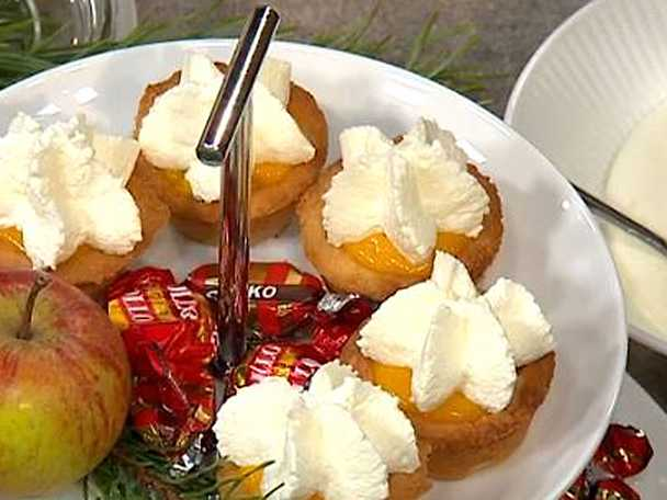 Mandelmusslor med saffrans- och apelsincurd