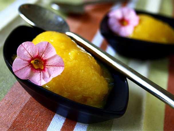Mango- och ingefärssorbet - laktosfri