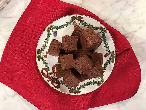 Marshmallowfudge med kaffe och choklad