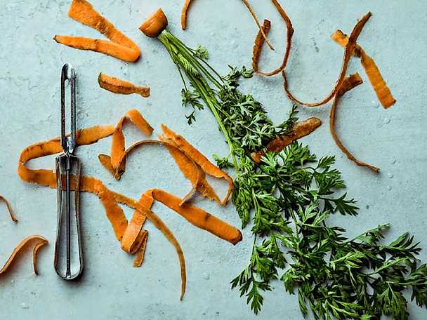 Matavfall morötter