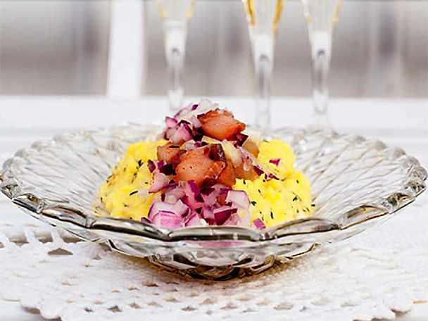 Matjessill med äggröra