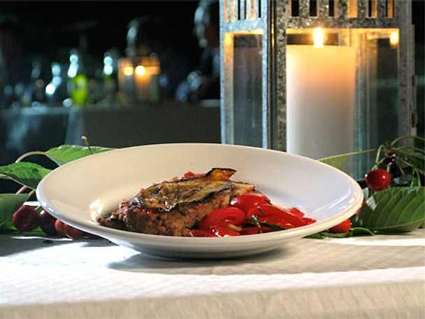 Melanzane con carne tritata di vitello - Aubergingratäng med kalvfärs