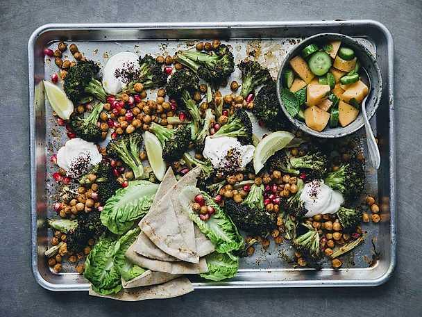 Mellanösternpanna med broccoli