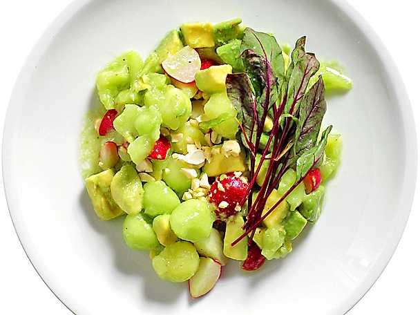Melon och avokadosallad