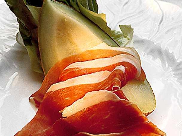 Melon och skinka
