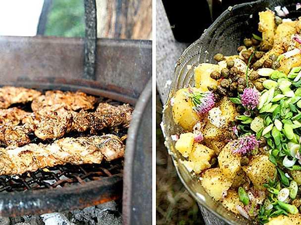 Mickes fläskfilé med potatissallad