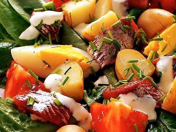Midsommarsallad med matjesill