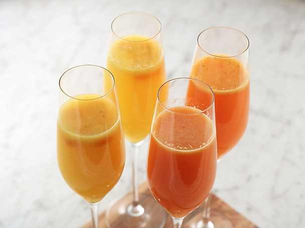Mimosa med apelsin och blodapelsin
