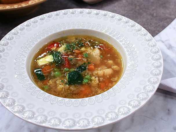 Minestronesoppa på grönsaker