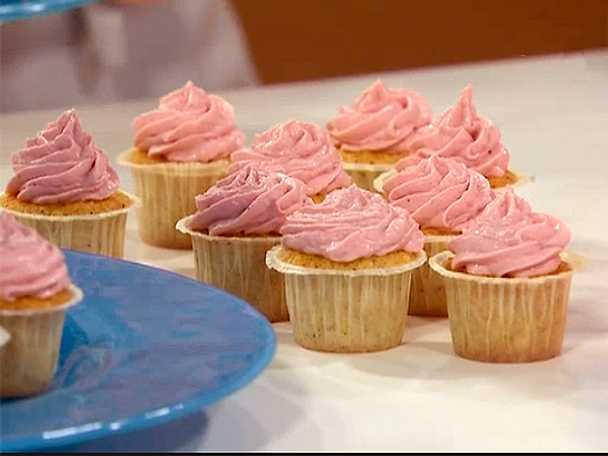 Minicupcakes med kokos och hallon