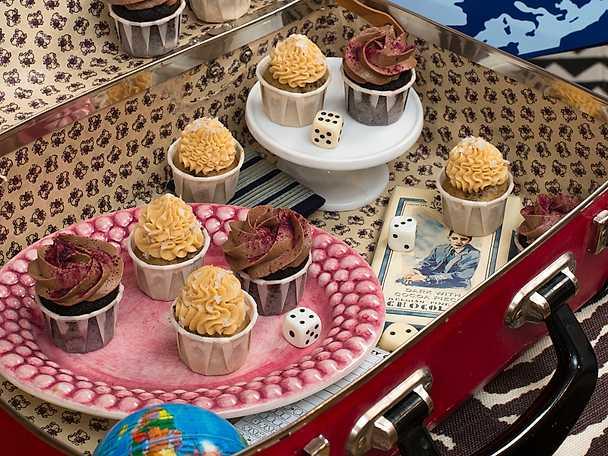 Minicupcakes med nutella och hallon