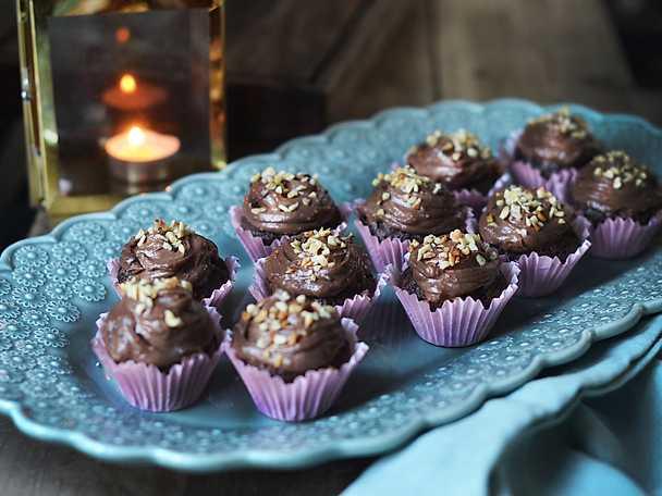 Minimuffins med choklad - och kaffekräm