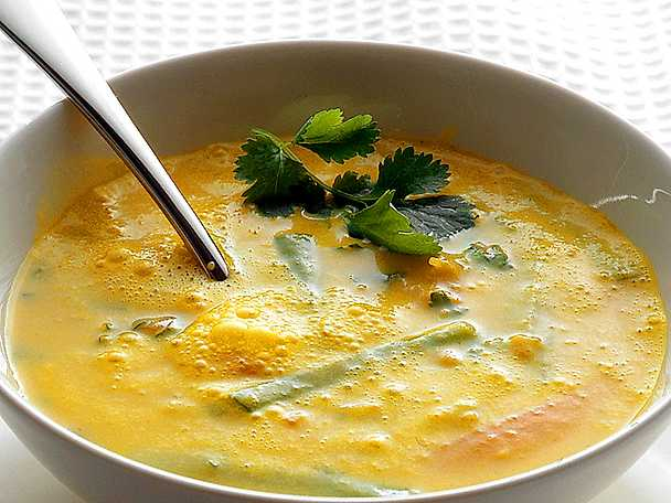 Mixad grönsakssoppa med haricots verts