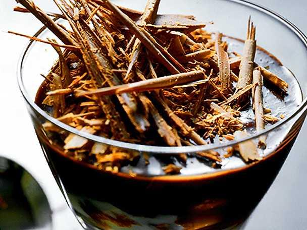 Mörk fransk chokladmousse
