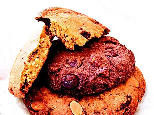 Mörka choklad cookies