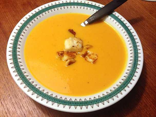 Morotssoppa med ingefära och chili