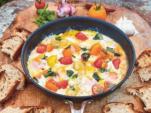 Mozzarellastekta ägg