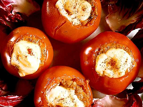 Musselfyllda tomater