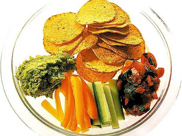 Nacho- och grönsaksdipp