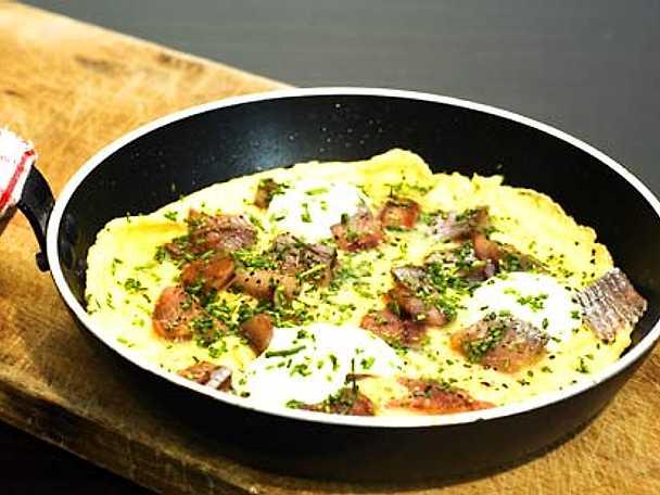 Omelett med matjessill