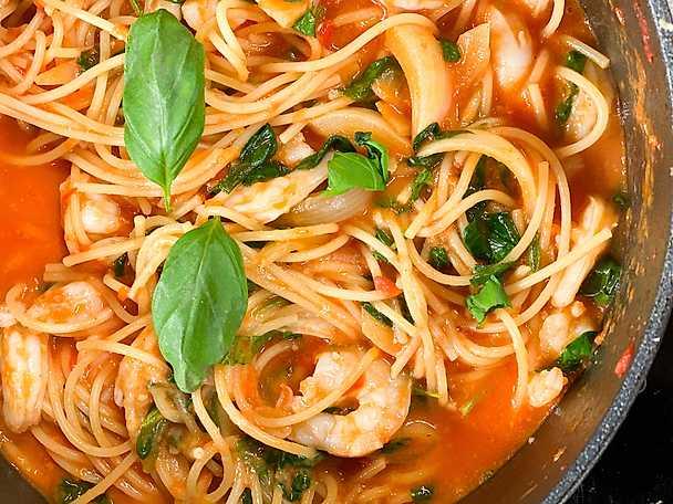 One pot scampi pasta