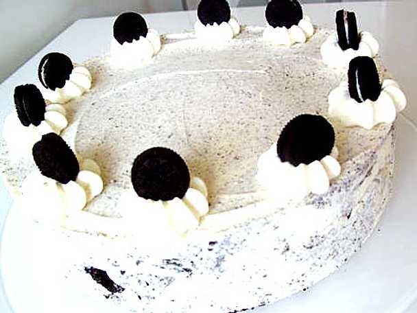 Oreo glasstårta