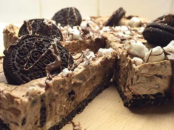 Oreo- och nutellacheesecake