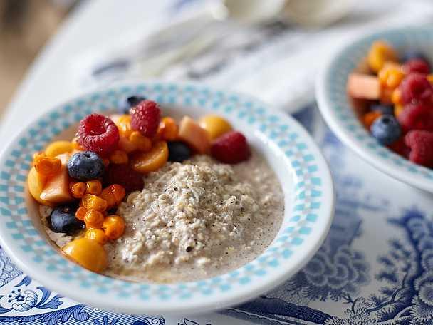 Overnight oats med färska bär