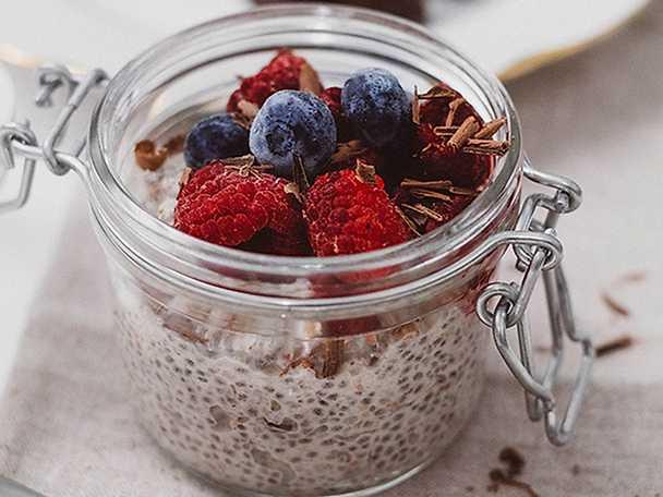 Overnight oats med riven choklad