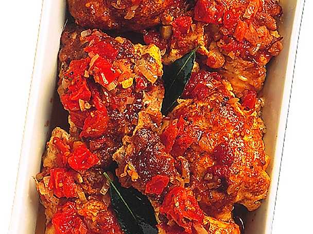 Panerad kyckling i tomatsås