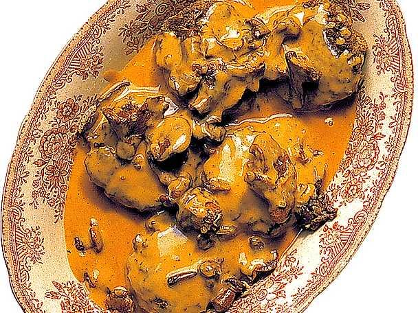 Pannbiff med kantarellsås